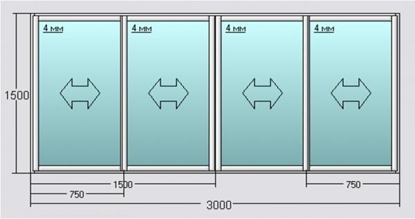 алюминиевые лоджии раздвижные