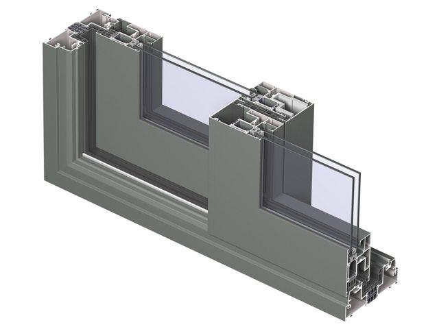 алюминиевый профиль с раздвижной системой