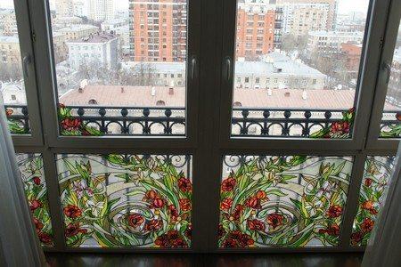 балкон на французские окна