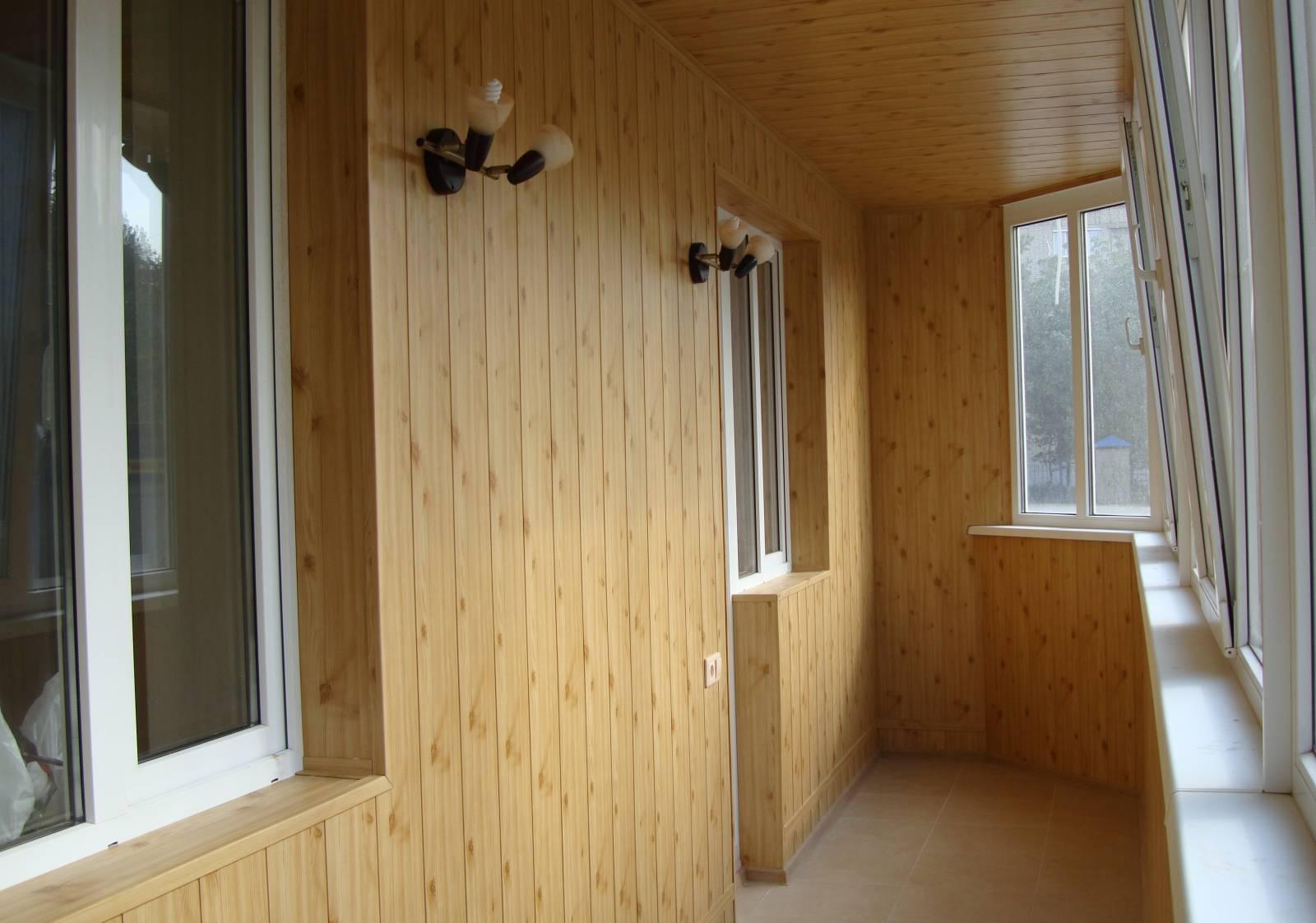 балкона отделка