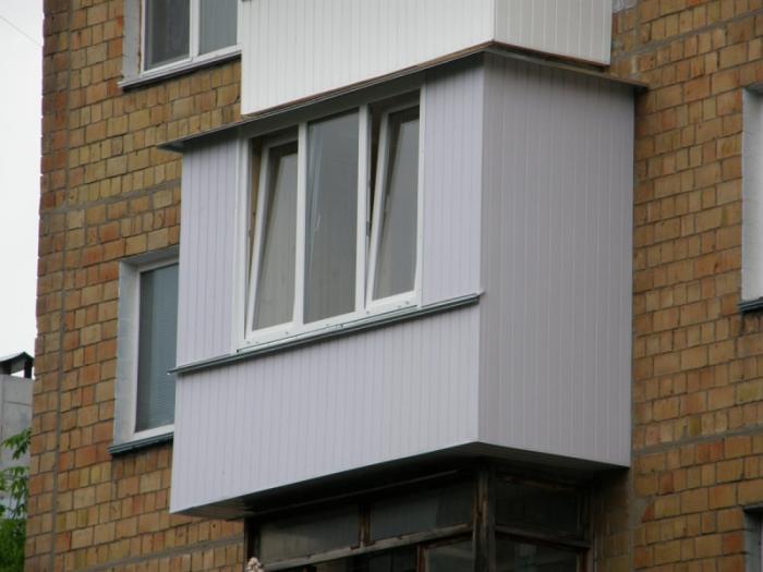 балконы обшитые ПВХ