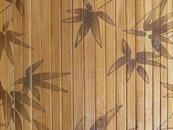 Бамбуковые панели существуют с различными узорами