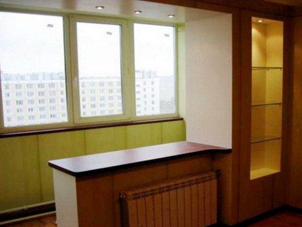 дизайн лоджии и комнаты