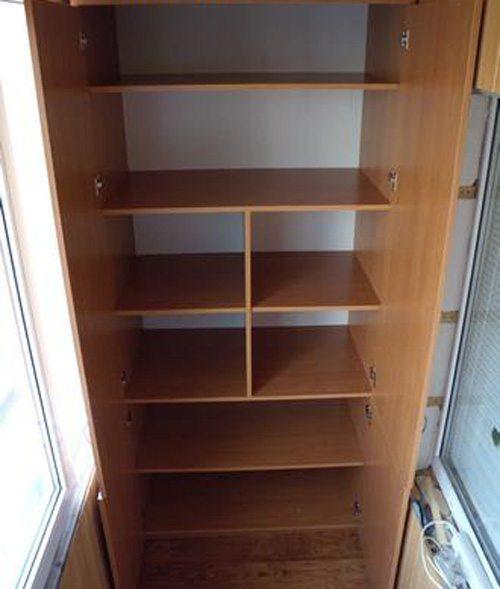 готовый шкаф на балкон