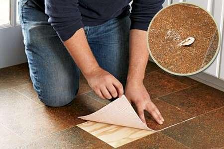 Испорченную плитку легко заменить