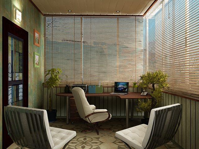 кабинет в расширенном балконе