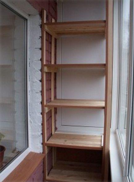 как построить на балконе шкаф