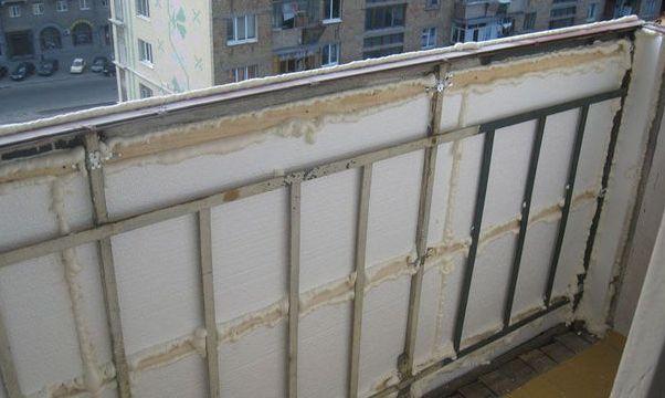 как утеплить балкон пенопластом
