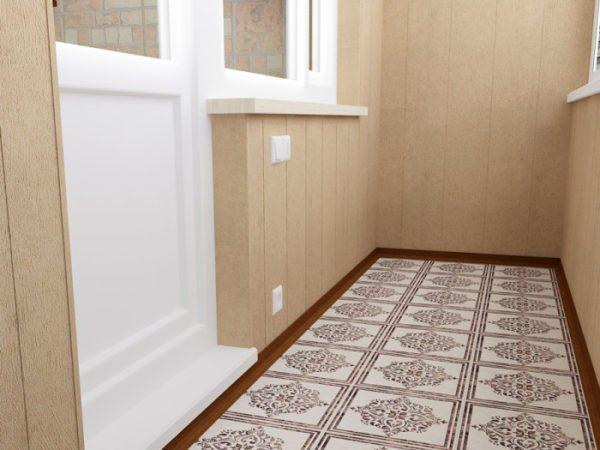 Керамика отлично подходит для пола на балконе, она прочна и долговечна