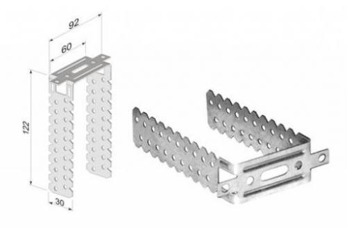 Конструкция подвеса позволяет закрепить каркас в любом диапазоне от 3 до 12 см