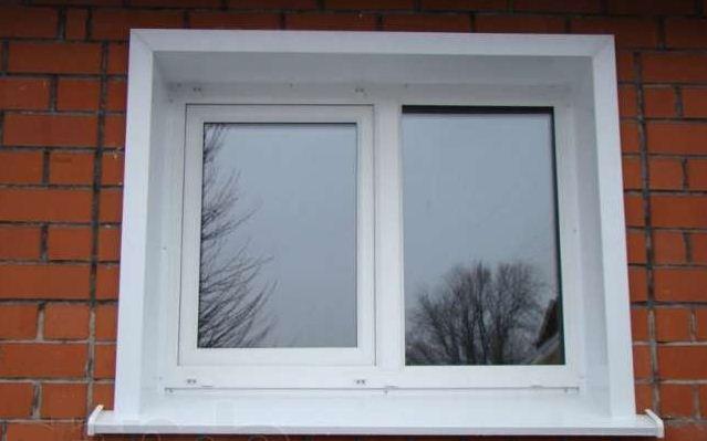 Любительское фото окна с пластиковыми откосами