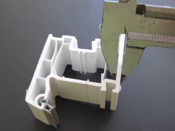 Минимальная толщина передней стенки для класса А — 3 мм