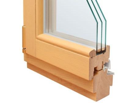 На фото - деревянный стеклопакет в разрезе