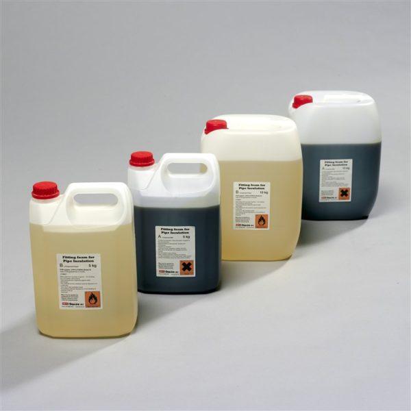 На фото полиол и изоциант — основные компоненты для изготовления пенистого полиуретана