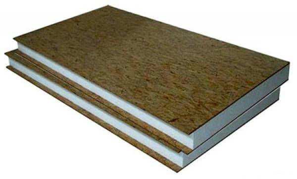 На фото — сэндвич панели из ОСП. Данный материал позволяет не только отделывать жилье, но и одновременно утеплять его