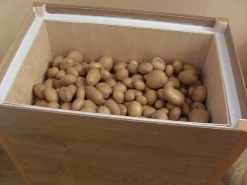 На фото: такой ящик для хранения овощей на балконе придется весьма кстати
