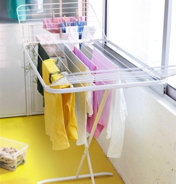 Напольные сушилки для белья на балкон — отличное решение для тех, кто не хочет ничего крепить