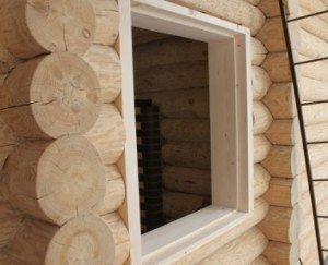 Обсада оконного проема в деревянном доме