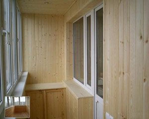 обшить вагонкой балкон