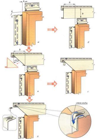 Обшивка окна виниловым сайдингом
