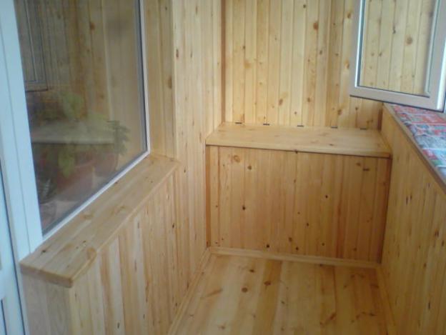 обшивка внутри балкона
