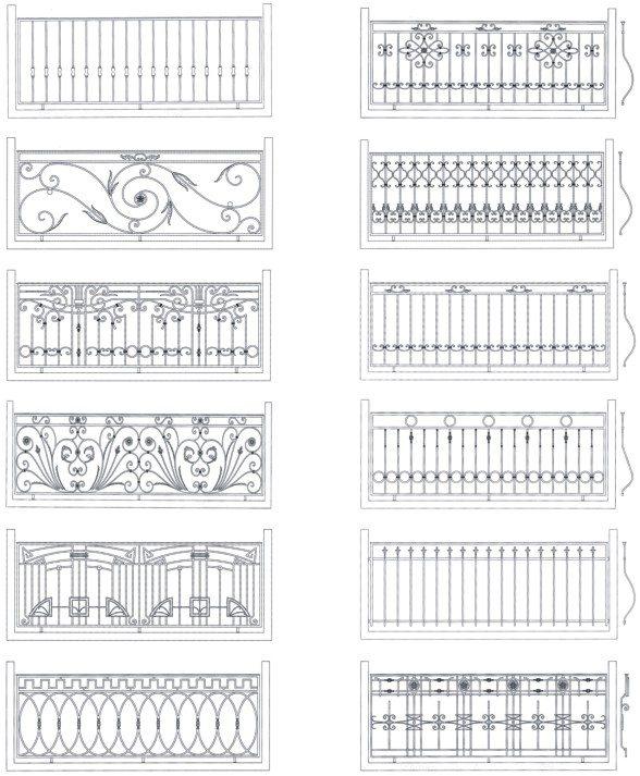 ограждения балконов кованые