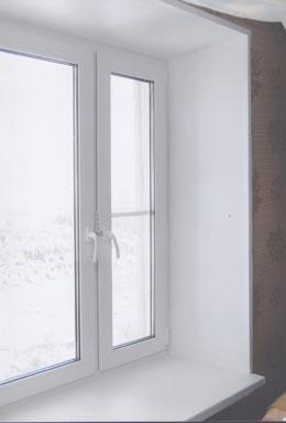 Откосы на окна из пластика: фото