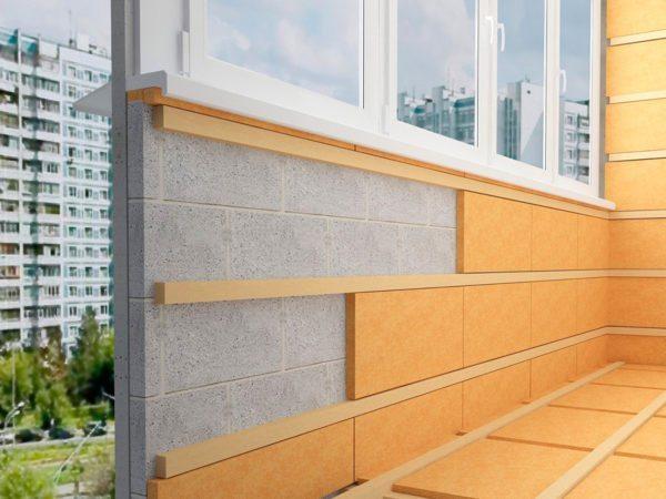 Пеноплексом-К можно утеплить и стены и пол лоджии.