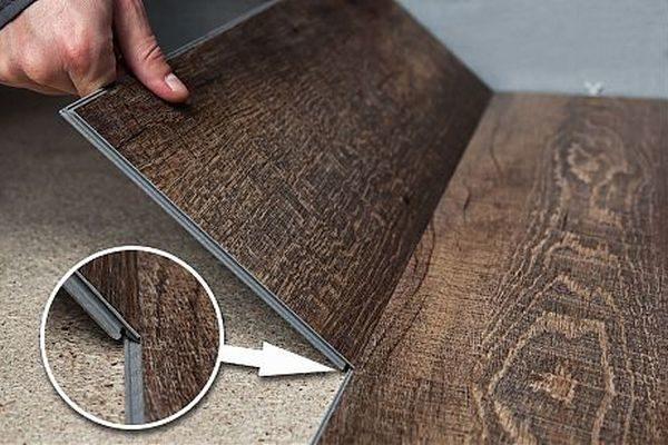 Плитка с замковым соединением монтируется по принципу ламината