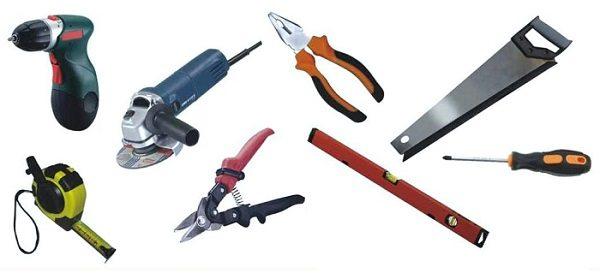 Примерный набор инструмента для монтажа сайдинга