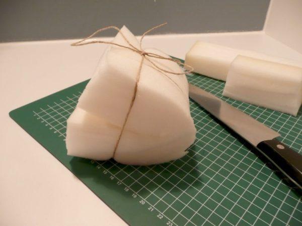 Простейший вариант изготовления тампона для окрашивания деревянных поверхностей