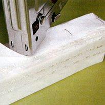 Расстояние между скобами степлера должна быть не более 3 см