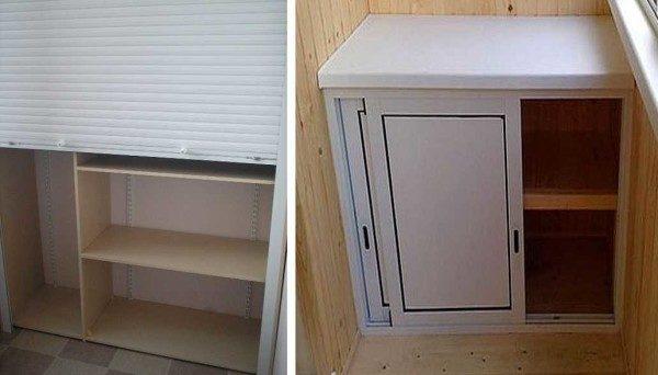Раздвижные двери балконных шкафов позволяют серьезно экономить пространство.
