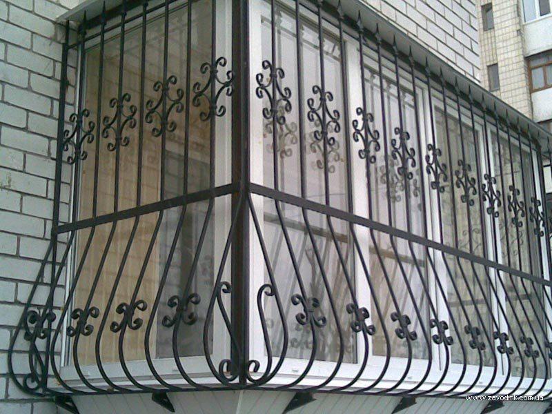 решетки кованые на балкон