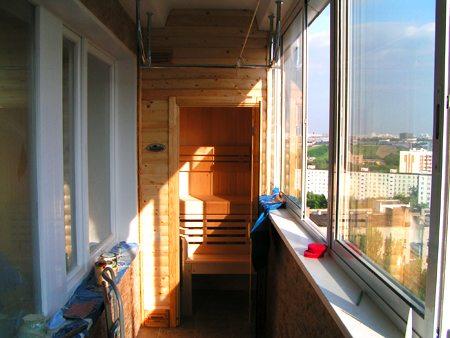 сауна на балконе своими руками