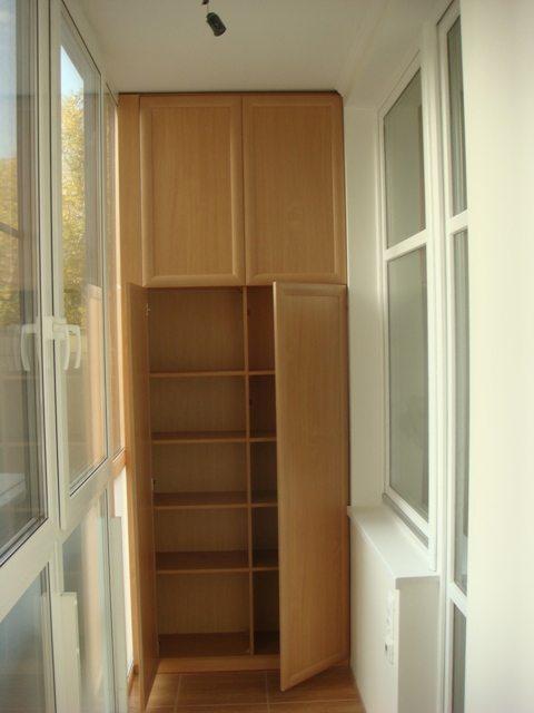 шкаф на балконе своими руками