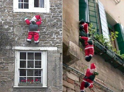 украшение балкона к новому году