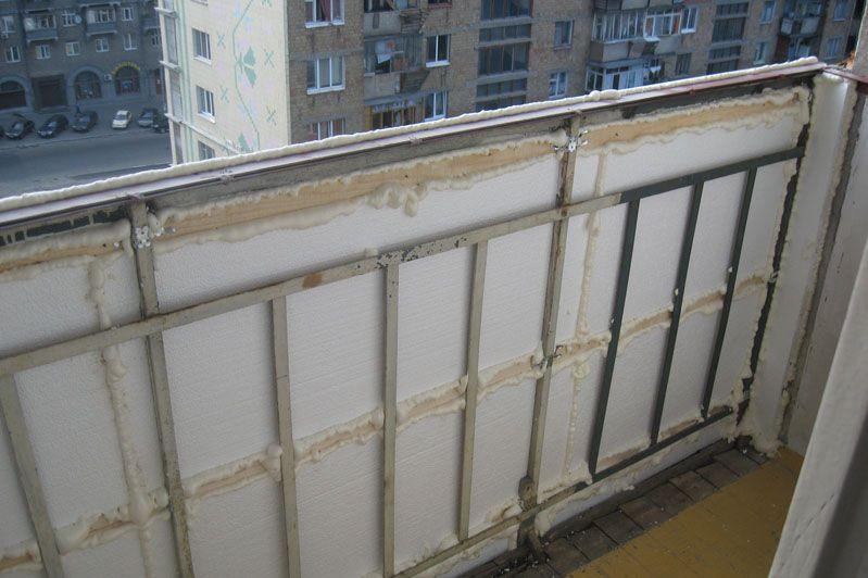 установка балконной рамы