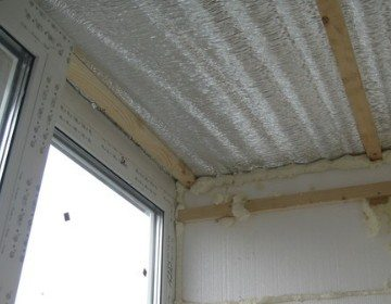 утепление потолка фольгированным утеплителем