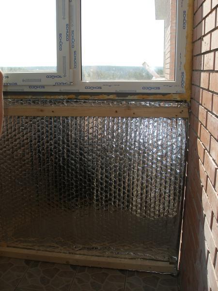 утеплить своими руками балкон