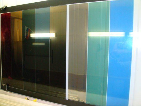 Варианты цветной тонировки стекла