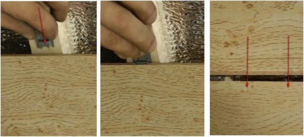 Вот как выглядит процесс стыковки и надевания кляймеров на пазовые выступы