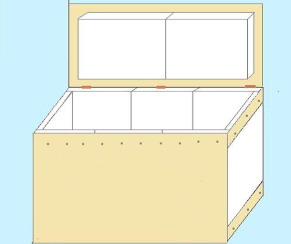 Вот пример простой конструкции для балкона