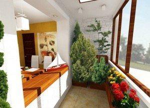 На балконе можно обустроить и зимний сад