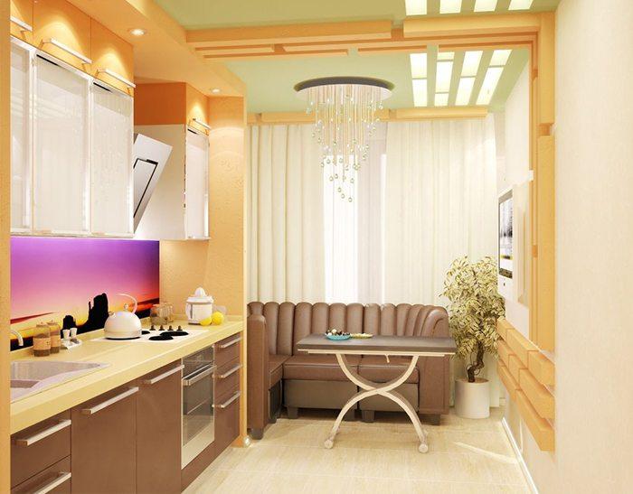балкон, совмещенный с кухней