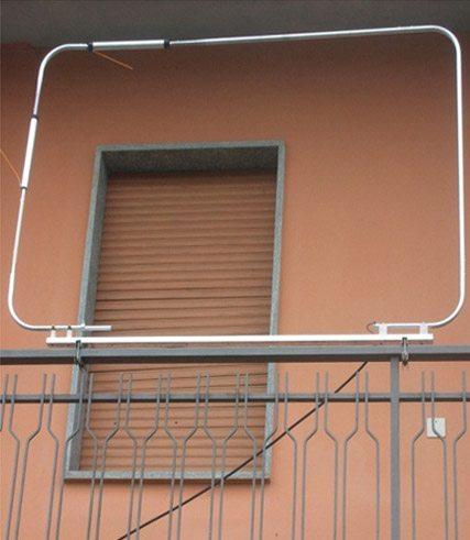 Рамочная балконная КВ антенна