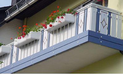Пример установленной балконной плиты
