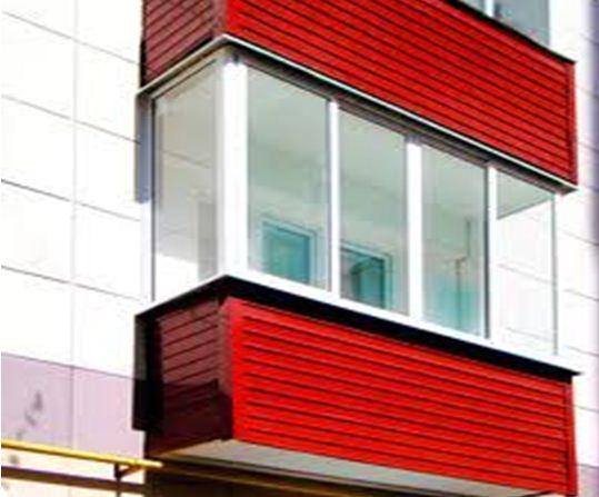 Облицовка балкона сайдингом