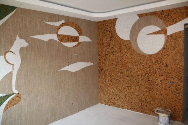 Декоративные панно, составленные на основе пробкового агломерата