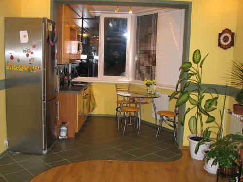 Дизайн кухня на лоджии – освобождение пространства на бывшей кухне и превращение ее в гостиную